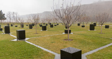 Monument to commemorate the Armenian Genocide in Quba.