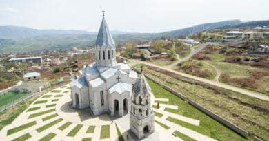 The Catholic church in Shushi / Nagorno-Karabakh.