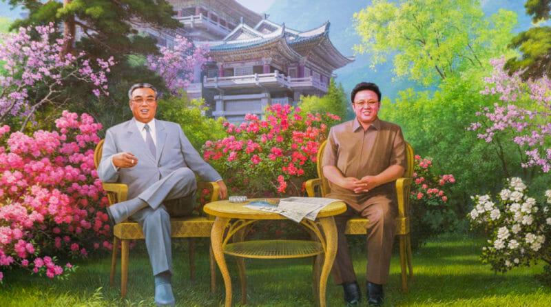 De misdadigers Kim Il Sung en Kim Jong-Il Noord Korea