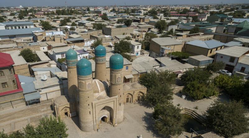 Char Minor Madrassa Oezbekistan in vogelvlucht