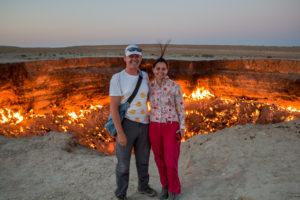 Derweze gas krater / Turkmenistan