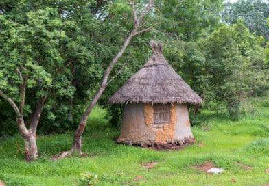 Typische hut, foto uit het fotoalbum Mali op www.edvervanzijnbed.nl.
