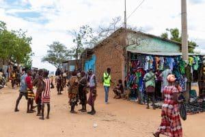 Weekmarkt / Turmi / Ethiopië