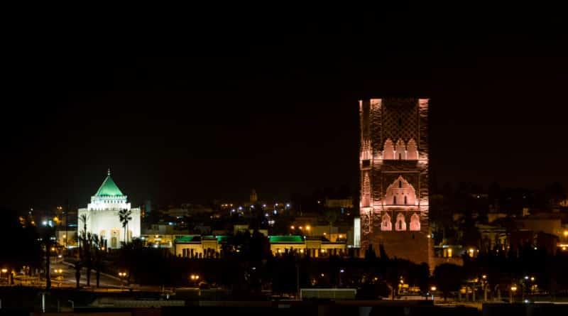 Het mausoleum van Mohammed V in Rabat, één van de koningssteden van Marokko.