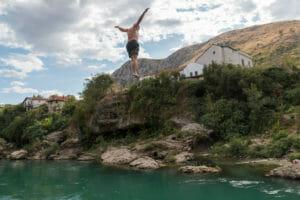 Oefen platform / Mostar / Bosnië en Herzegovina
