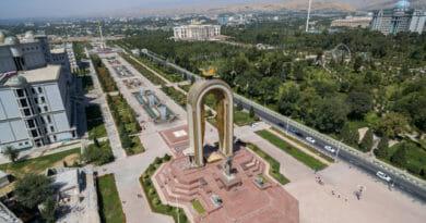 Foto uit een drone video tadzjikistan