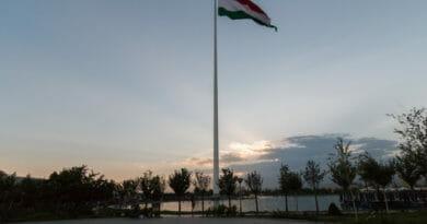 Vlaggenmast Dushanbe