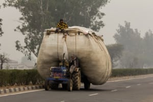 vlakbij Agra / India